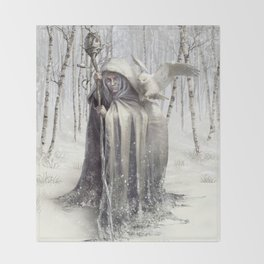 Witch of the White Wood Throw Blanket