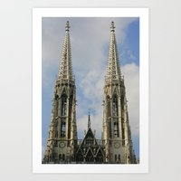 vienna Art Prints featuring Vienna by Kim Ramage