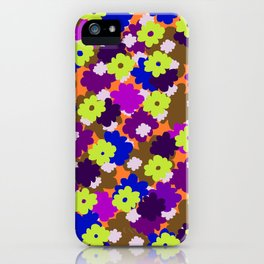 Fall Fun Flowers iPhone Case
