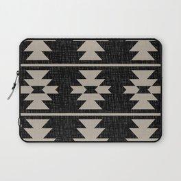 Southwestern Pattern 129 Black and Linen Laptop Sleeve