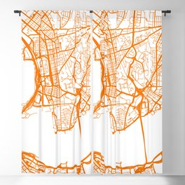 Street MAP Hong Kong // Orange Blackout Curtain