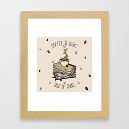 Coffee And Books Framed Art Print