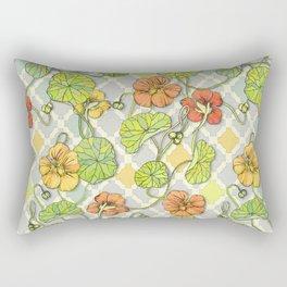 Climbing Nasturtiums in Lemon, Lime and Tangerine Rectangular Pillow