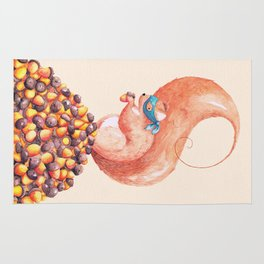 The Bandit Squirrel Rug