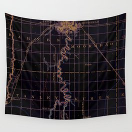 Fargo old map year 1895, united states vintage maps Wall Tapestry