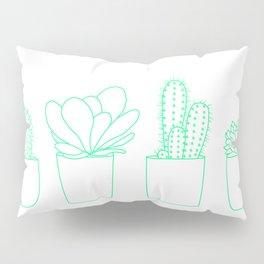 Succulents (Minty Palette) Pillow Sham