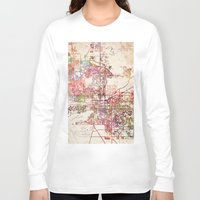 phoenix Long Sleeve T-shirts featuring Phoenix  by MapMapMaps.Watercolors