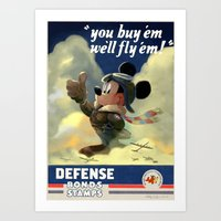 WWII Mouse Art Print