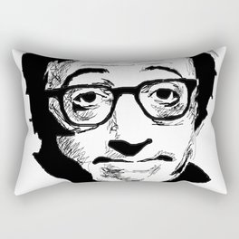 Woody Allen by Burro Rectangular Pillow