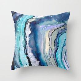 Geode Art Throw Pillow