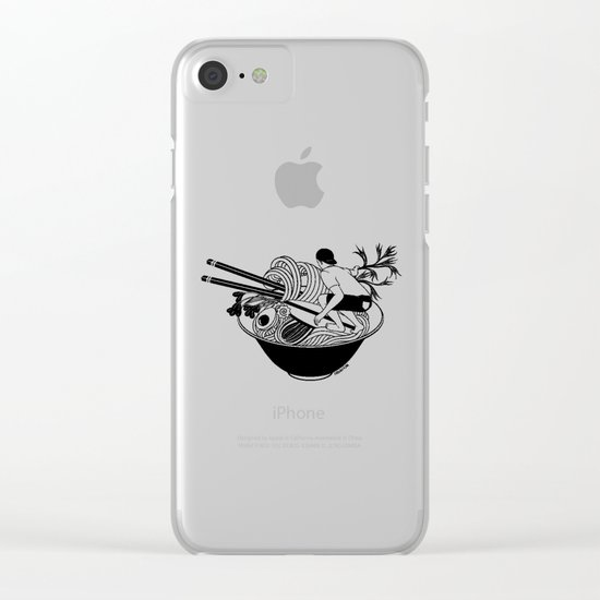 Noodle Wave Clear iPhone Case
