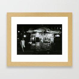 The Night Vendor Framed Art Print