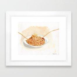 Pasta love Framed Art Print