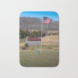 My America, my country living Bath Mat