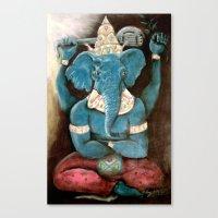 ganesh Canvas Prints featuring ganesh by Michael Anthony Alvarez