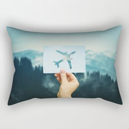 holding plane icon Rectangular Pillow