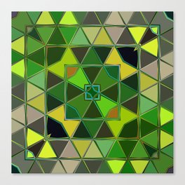 yellow green square Canvas Print