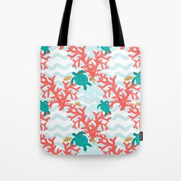 Clowning Around With Sea Turtles on The Reef Tote Bag