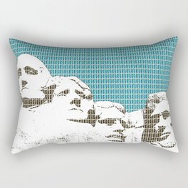 Mount Rushmore - Dark Blue Rectangular Pillow