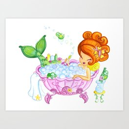 Bubblebath Wishes Art Print