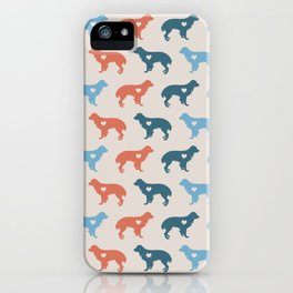 Valentine's dog surface pattern (red-blue small) iPhone Case