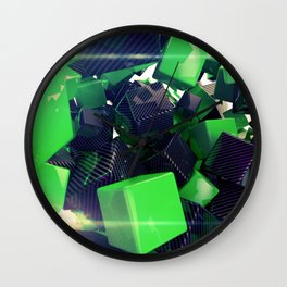 The Riddler Maze of Carbon Quaders Wall Clock