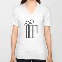 beer V-neck T-shirts featuring Beer by parallelish