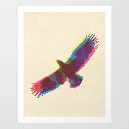 Eagle Paint Print Art Print