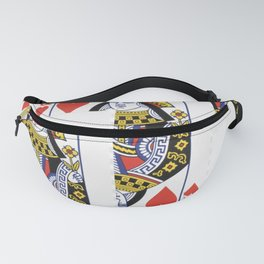 RED QUEEN OF HEARTS CASINO PLAYING CARDS Fanny Pack