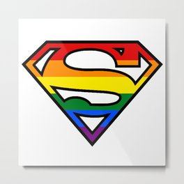SuperGay rainbow! Metal Print