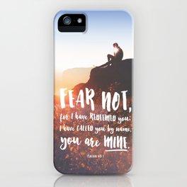 Isaiah 43:1 iPhone Case