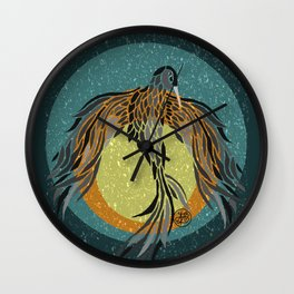 Shadow Phoenix Wall Clock