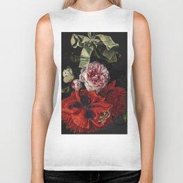 "Maria van Oosterwijck ""Roses and carnations hanging"" Biker Tank"