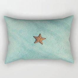 Starfish Aquamarine Rectangular Pillow