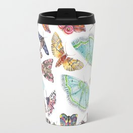Nature Illustration of Moths Travel Mug