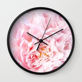 Peony Flower Photography, Pink Peony Floral Art Print Nursery Decor A happy life - Peonies 3 Wall Clock