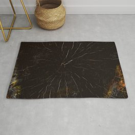 Dark Red SmokeyBlack - Wood Section - #13 Rug