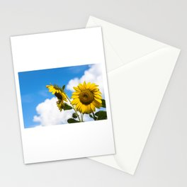 Sunflowers and clouds Stationery Cards