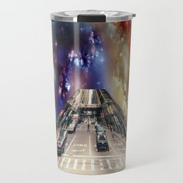 City coming out of a nebula Travel Mug