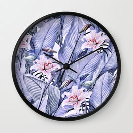 Tropical state - violet Wall Clock