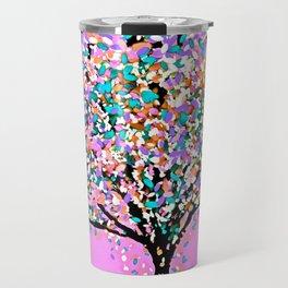 Trees Pink Travel Mug
