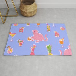 Cocktail Monkey purple Rug