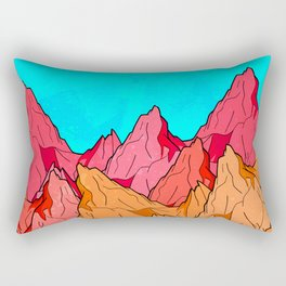 The Red and Orange Mounts Rectangular Pillow
