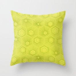Honeycomb green geometric pattern. Throw Pillow