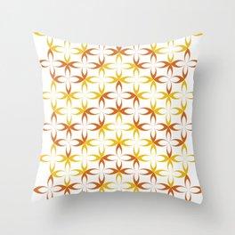 orange stylized schematic flower Throw Pillow