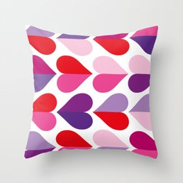 Love and Kisses in Ultra Violet Throw Pillow