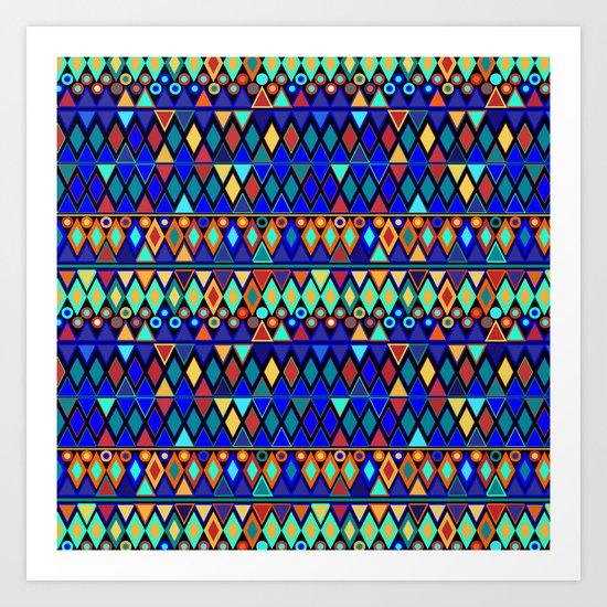 Shimmering Geometric Art Print