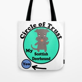 Circle Of Trust Cute Scottish Deerhound Tote Bag