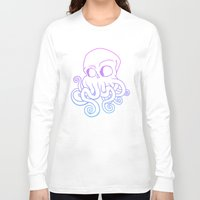 cthulu Long Sleeve T-shirts featuring Call me Cthulu  by KickPunch