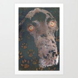 leaving his print Art Print